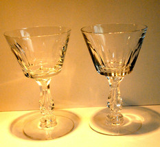 "LEAD CRYSTAL SHERBET CUP/S GLASS/S SET OF 2 TWO STEM FINEST QUALITY  6"" ... - $29.99"