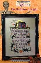 On Halloween Night cross stitch chart Kit & Bixby - $8.10