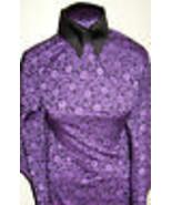 Purple and Black Stretch Brocade Sample Cut Lycra Stretch Fabric 2 Yards... - $40.00