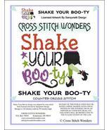 Shake Your Boo-Ty halloween cross stitch chart Cross Stitch Wonders - $5.00