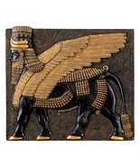 Assyrian Winged Bull Sculpture of Khorsabad Palace Replica Reproduction - $38.61