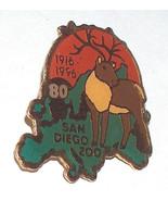 San Diego Zoo 80 Years 1916-1996 Animal Reindeer Pin Button - $9.39
