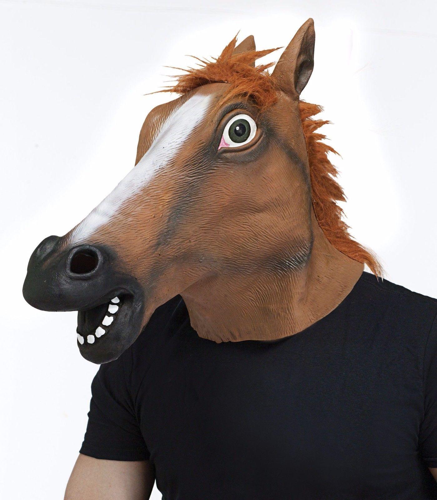 Fun World Horse Animal Zoo Kentucky Derby Adult Halloween Costume Mask 93267