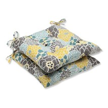 Pillow Perfect Outdoor Full Bloom Wrought Iron Seat Cushion, Set of 2 - £35.16 GBP