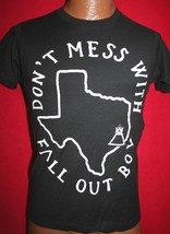 FALL OUT BOY Don't Mess With...Texas State T-SHIRT XS Emo Rock Band - $12.99