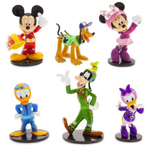 Disney Store Mickey & the Roadster Racers Figurine Playset 6 Piece Cake ... - $28.04