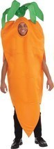 Carrot Adult Costume Men Women Orange Vegetable Food Halloween Unique FM... - €51,01 EUR
