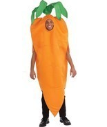 Carrot Adult Costume Men Women Orange Vegetable Food Halloween Unique FM... - ₹4,281.39 INR