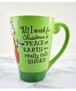 All I Want for Christmas is Peace and Really Cute Shoes Hallmark Mug Co... - $17.05