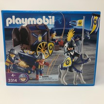 NIB Playmobil #3314 Medieval Knights Lion Shields Transporting Treasure ... - $40.58