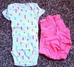 Girl's Size NB Newborn 2 Pc Carter's Popsicle NWOT Top & Garanimals Pink... - $16.00