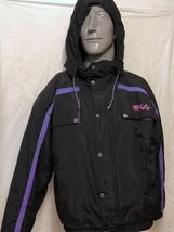 VTG Fila Max Line Black Purple Ski Hooded Jacket Sz 40 Snow Snowboard Wi... - $121.76