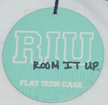 Room It Up Brand TCAE6221 Pink and Turquoise Leopard Print Flat Iron Case image 6