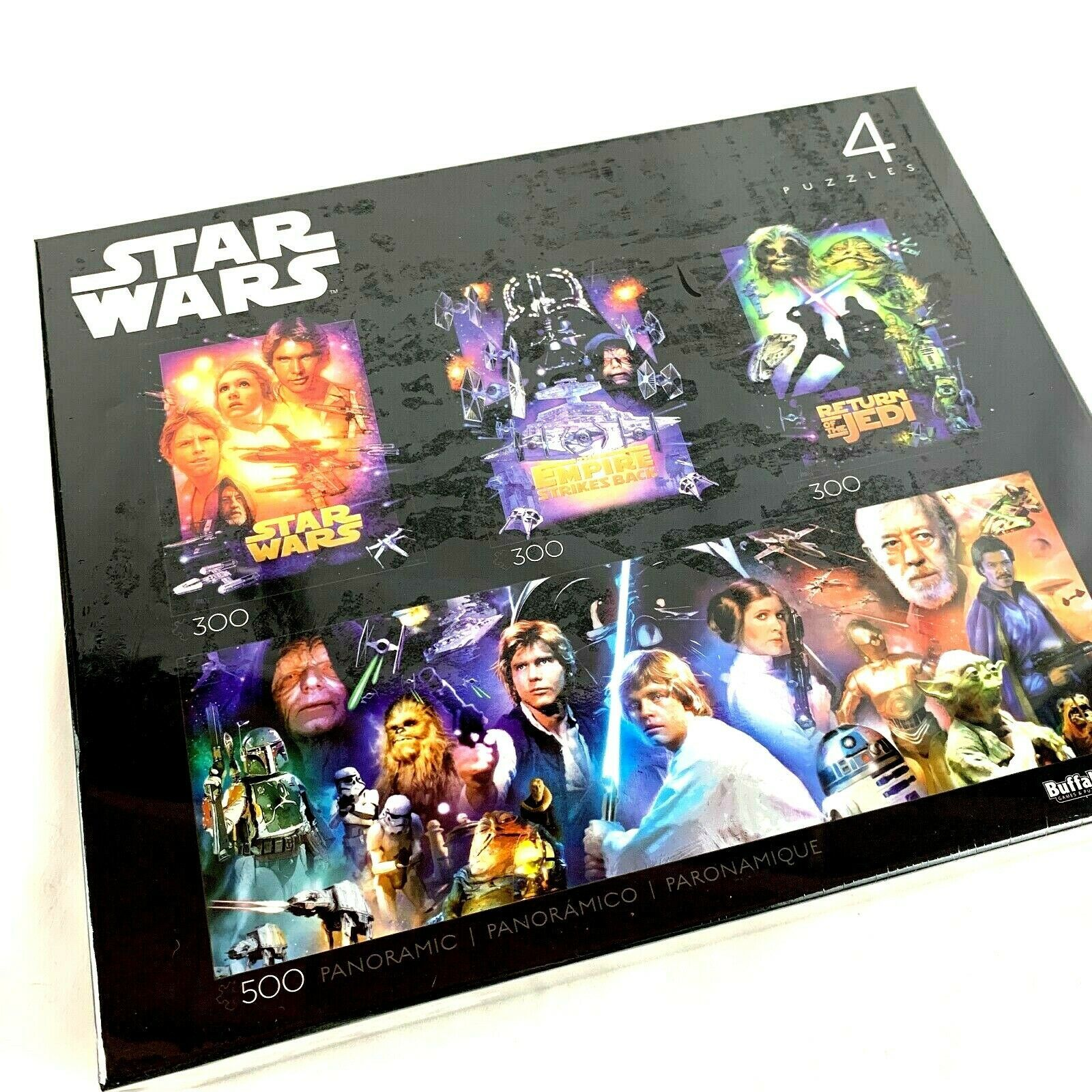 Star Wars Original Trilogy Jigsaw Puzzle 4 Pack 300 500 pcs Disney Buffalo 30620 - $46.44