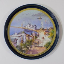 San Francisco Round Metal Tray Exposition Food Processors 1985 - $24.74