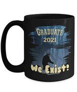 PixiDoodle Graduation Coffee Mug - Class of 2021 Sasquatch Quarantine (1... - $21.84