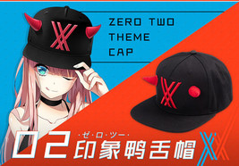 Darling In The Franxx 02 Zero Two Cosplay Cap Casual Hat Embroidery Adjustable - $16.82