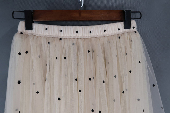 Cream tulle skirt 10