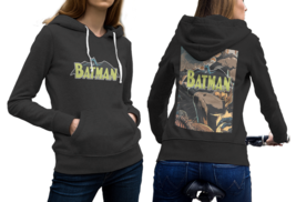 Batman Comic Black Cotton Hoodie For Women - $29.99+