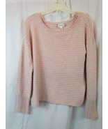 NWT Pink Rose Long Sleeve Pink Scoop Neck Sweater Sz Small Org $44 - $28.49