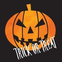 "Creepy Night Halloween Pumpkin ""Trick or Treat"" 16 Ct Beverage Napkins - $3.51"