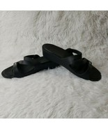 Crocs Patricia Black Wedge Sandals Comfort Low Heel Slides Shoes Women's... - $29.70