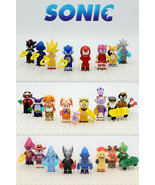 Sonic The Hedgehog Tails Knuckles Eggman 24pcs/set Custom Minifigures Co... - $39.99
