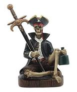 Ebros Rum Mail Pirate Captain Skeleton Letter Opener Statue Set with Dag... - $23.71