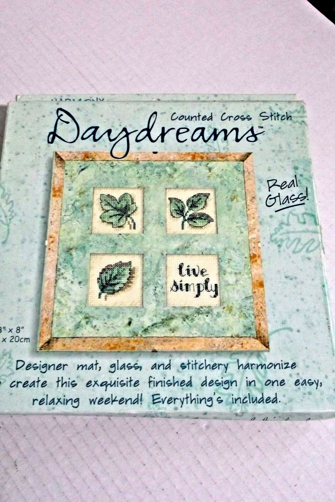 """Dimensions Daydreams Counted Cross Stitch Kit """"Live Simply"""" 72604 8"""" x 8"""" - $19.54"""