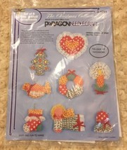 Vintage Paragon Needlecraft Christmas Collection Set of 8 Snip 'n Stuff ... - $17.32