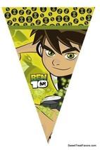 BEN Aliens 10 Party Supplies FLAG BANNER Birthday Decoration GARLAND Boy... - $14.80