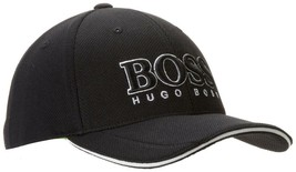 New Hugo Boss Men's Pique Logo Adjustable Trucker Sport Hat Cap 50251244 image 2
