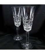 Lenox Charleston Champagne Flutes Set of 2 Cut Crystal 6 oz Glasses - $34.16