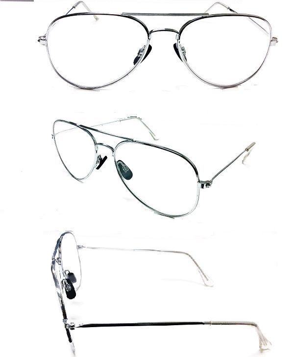 Tall Bridge Silver Metal Aviator No Line Clear Lens Reading Glasses +1.50