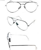Tall Bridge Silver Metal Aviator No Line Clear Lens Reading Glasses +1.50 - $6.95