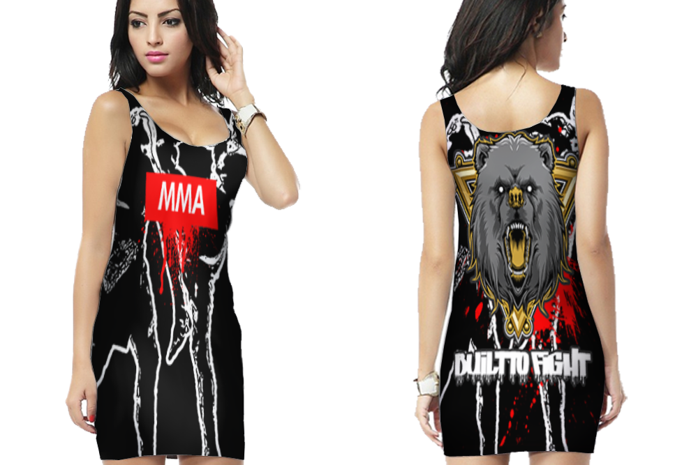 Fighter Knocked Out Bodycon Dress For Women