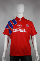 Vintage bayern munich jersey 40 42 adidas shirt home opel vtg 1991 91  - $40.00