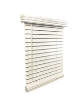 """US Window And Floor 2"""" Faux Wood 24"""" W x 72"""" H, Outside Mount Cordless Blinds, 2"""