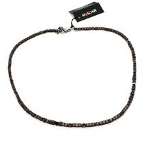 925 Sterling Silver Necklace Burnished with Hematite Satin Made in Italy by image 2
