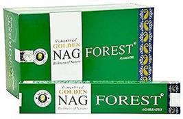 ABN Fashion Golden Nag Forest Sticks Incense Natural Fragrance Hand Rolled India - $8.56
