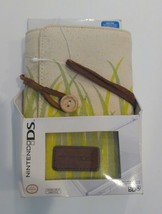 Nintendo ds game case 3 fold Organizer Canvas Bamboo Design - $9.89