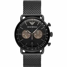 Emporio Armani AR11142 Black Stainless Steel Mesh Bracelet Men's Watch - $333.06