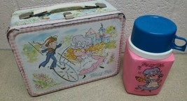 Original Vintage 1974 Polly Pal Classic Character Metal Lunch Box with Thermos - $19.69