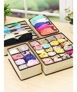 4 Pcs Underwear Storage Box Multi-Grids Nonwoven Fabric Socks Underwear ... - $17.99