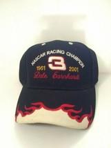 Dale Earnhardt #3 Nascar Racing Champion Memorial Hat Black White Red Flames - $19.40
