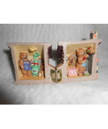 CERAMIC THREE BEARS HOUSE HINGED OPENS / CLOSES HAND PAINTED NEW IN BOX - $16.95