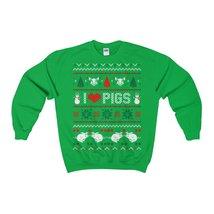 I love pigs ugly christmas sweatshirt xmas - $29.95+
