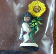DEGRAZIA SUNFLOWER BOY Bronze Miniature Figurine by Olszewski GOEBEL NIB... - $65.30
