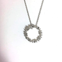 Sterling Silver Mother Daughter Pendant Necklace - $20.00