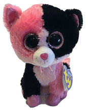 "TY Beanie Boos Dazzle the Colorblock Cat 6"" Justice Exclusive 2013 Pink ... - $19.59"